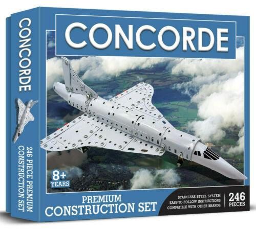 Meccano Style Demand 0018 Concorde Drilled Metal Construction Set