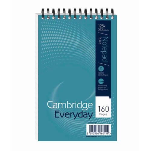 Cambridge Notebook Headbound Ruled 60gsm 160pp 125x200mm 100080235 Pack 10