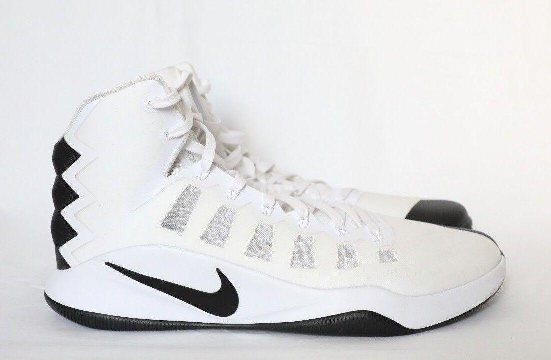 Nuovi uomini è nike hyperdunk 2016 tbc, scarpe da basket bianco nero taglia 18 844368 100