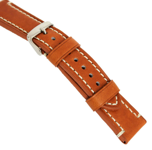 18, 20, 22, 24 mm Leather BAND CATALONIA AVIATOR WATCH Retro Look STYLE STRAP
