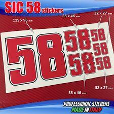 Set n.6 adesivi SIC 58 Simoncelli SIC5