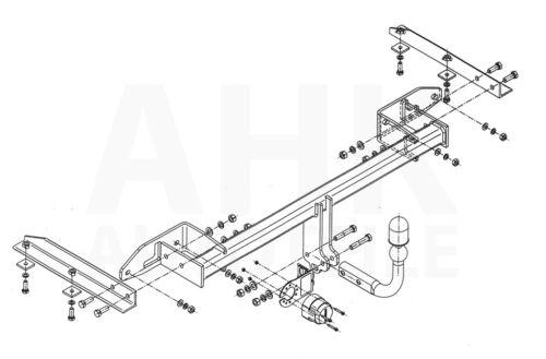 AHK Für Opel Zafira Tourer 12-16 mit REC Anhängerkupplung starr+ES 13p spez