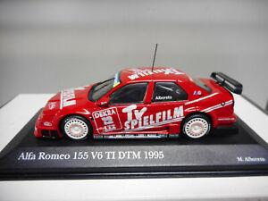 ALFA-ROMEO-155-V6-Ti-PRESENTATION-DTM-1995-ALBORETO-MINICHAMPS-1-43