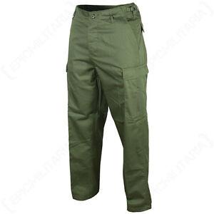 US-Ranger-BDU-Pantalones-Verde-Algodon-Combate-Ejercito-Militar-Pantalones