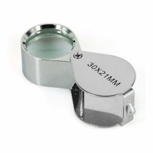 DIGIFLEX Jewellers Loupe 30 x 21mm Glass Jewellery Magnifier Eye Lens-