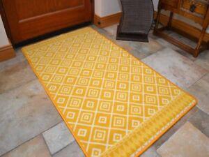 Gold Ochre Hallway Runner Very Long Washable Non Slip Kitchen Entrance Door Mat