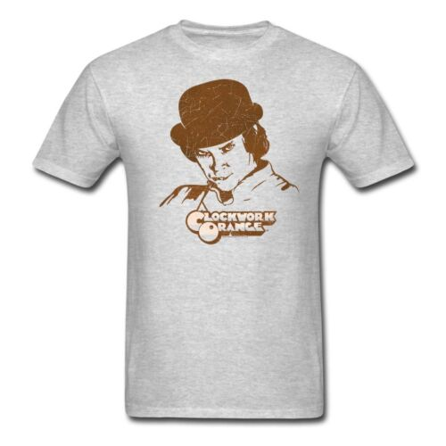 1980s a clockwork orange horror movie Alex DeLarge T Shirt Printed Tees USA SIZE