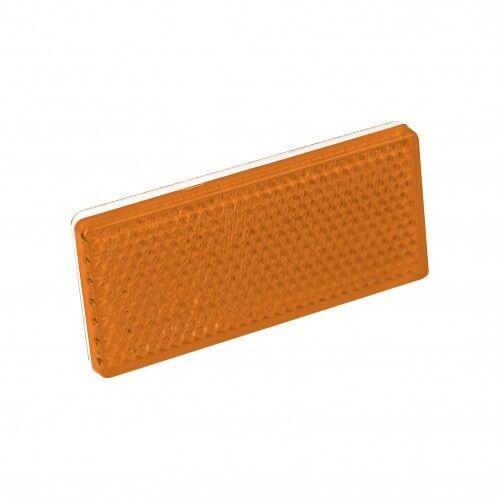 20 Amber Orange Rectangular Reflectors 70 x 30mm Self Adhesive Trailer Caravan