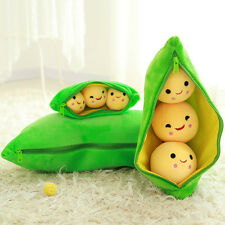 Kids Love Toy Cute Emoticons 3 Peas in a Pod Plush Soft Stuffed Doll Pillow Gift