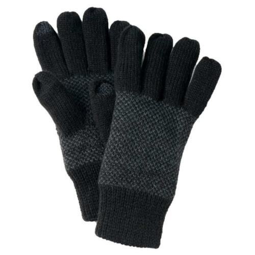 Van Heusen Men/'s Fleece Lined Tech Texting Knit Gloves One Size Black