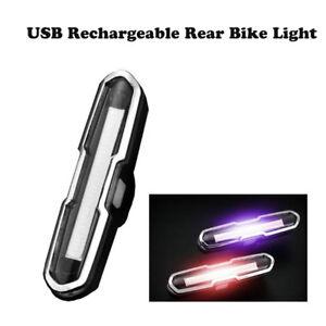 USB-Rechargeable-velo-Lampe-Eclairage-Avant-Arriere-LED-feu-arriere-de-velo-FCT