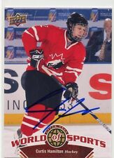 CURTIS HAMILTON CANADA AUTOGRAPH AUTO 2010 UPPER DECK WORLD OF SPORTS 180 *33629