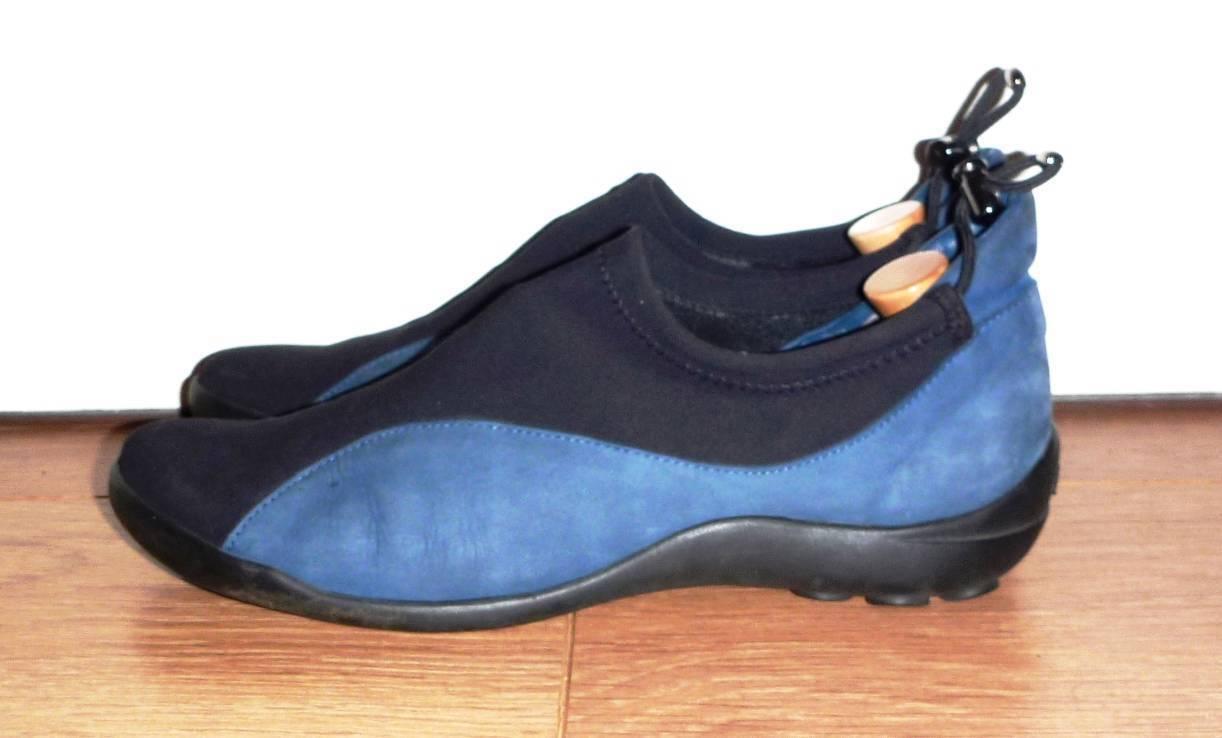 Arche da uomo blu + e nero pelle nabuk + blu tessuto Designer Shoes-US 11 RRP a37dc4