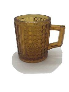 Vintage-Orange-Glass-3-034-Shaving-Mug-with-raised-embossed-dots