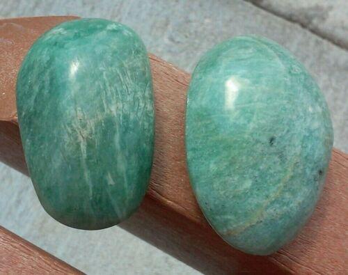 """2-1//4/"""" Madagascar 1 Amazonite Gallet Palm Stone"""