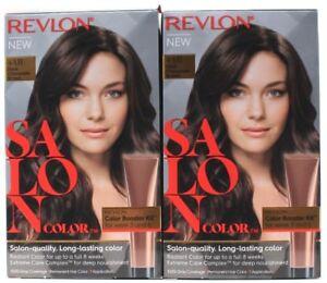 2 Revlon Salon Color Permanent Dye Color Booster Kit 4ar Dark