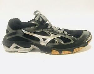 new style c6d50 bf008 Image is loading Mizuno-Wave-Bolt-5-Black-Athletic-Running-Silver-