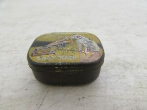 Vintage His Masters Voice Advertising Needle Tin For Gramophone, With Needles