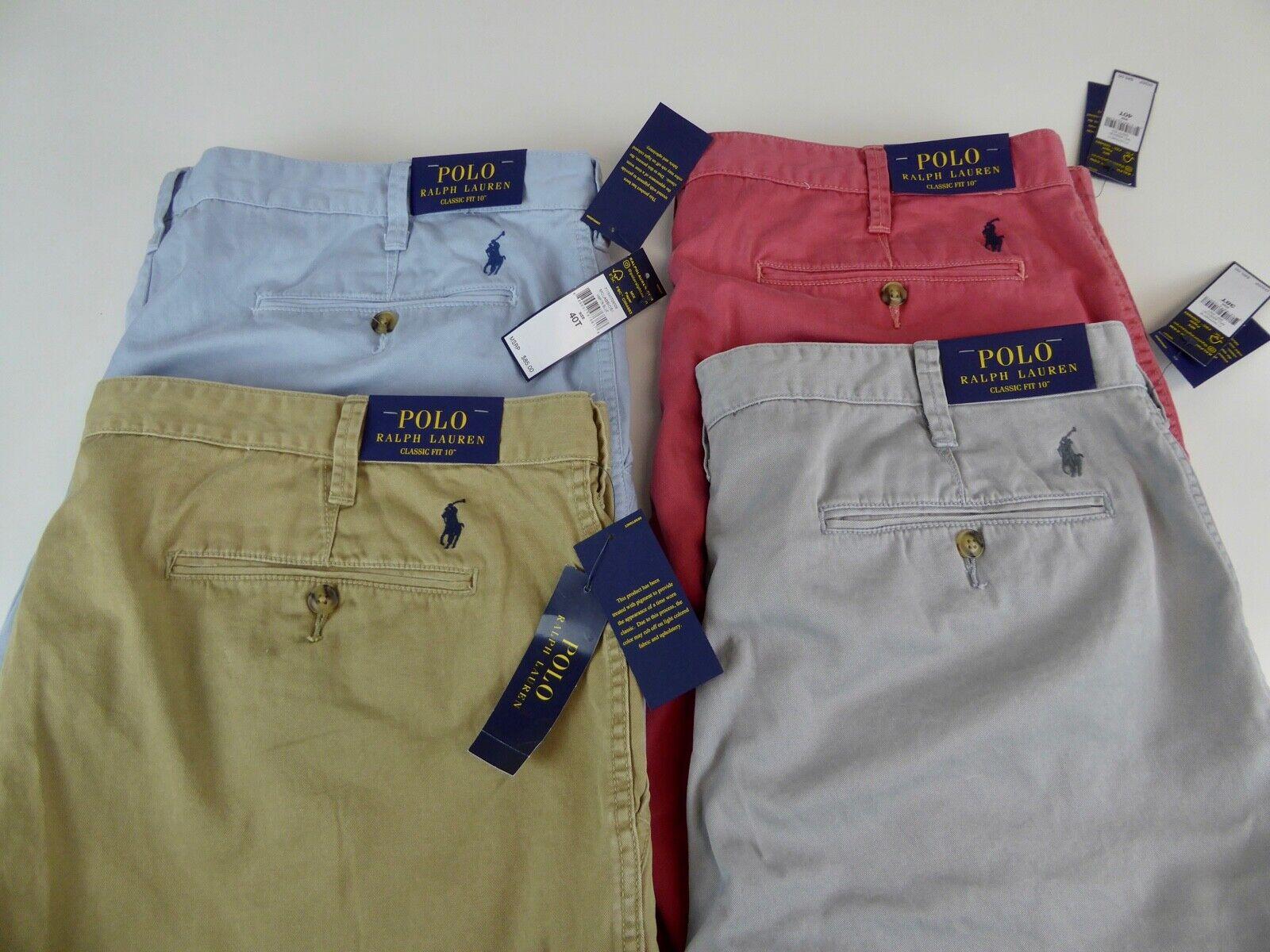 """Polo Ralph Lauren Classic Fit 10"""" desde  entrepierna Sarga Pantalones Cortos Pony W Nuevo Con Etiquetas  85 100% algodón  increíbles descuentos"""