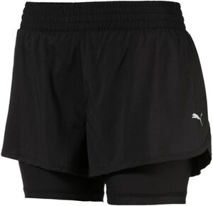 Purposeful Puma Core Run 2 In 1 Womens Running Shorts Women's Clothing Black To Be Distributed All Over The World