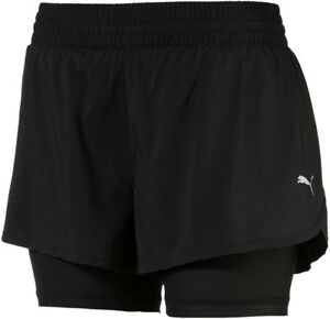 Puma Core Run 2 en 1 Femme Shorts de Course-Noir-afficher le titre d`origine JbAWc58r-07134927-160232434