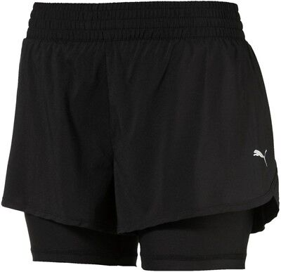 Zielsetzung Puma Core Run 2 In 1 Womens Running Shorts - Black