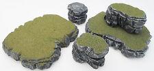 Warhammer 40k Tabletop WarGaming Terrain Scenery Grey Stone Plateau Rocks Set E