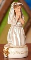5.5 Kneeling Girl My First Communion Resin Figurine, New, Free Shipping