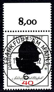 809-Vollstempel-gestempelt-EST-Ersttag-mit-Gummi-Oberrand-BRD-Bund-Deutschland