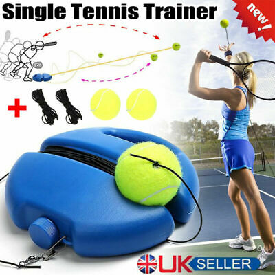 Tennis Singles Player Tennis Trainer Training Practice Ball Back Base Tools