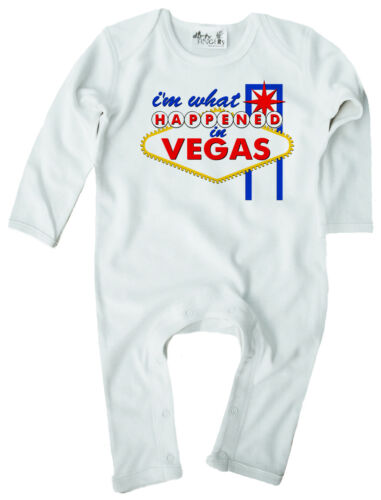 """Funny Baby Romper /""""I/'m What Happened in Vegas/"""" Las Vegas Gift Baby Clothes"""
