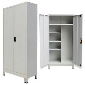 Beau Image Is Loading Metal Cabinet 2 Door Storage Office Cupboard Tool