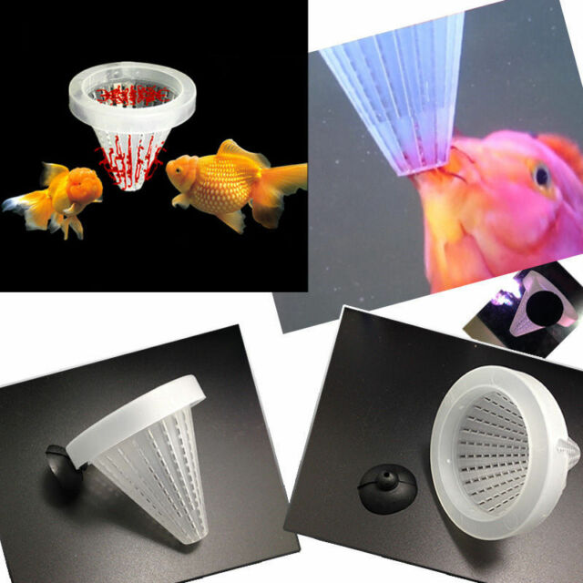 2pcs Aquarium Tank Live Worm Bloodworm Cone Fish Feed Funnel Tool Basket;