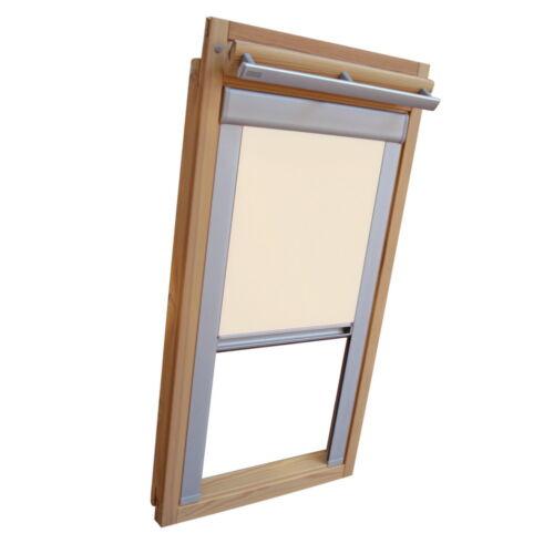 Sichtschutzrollo mit Schienen für Velux Dachfenster VE//VK//VS creme