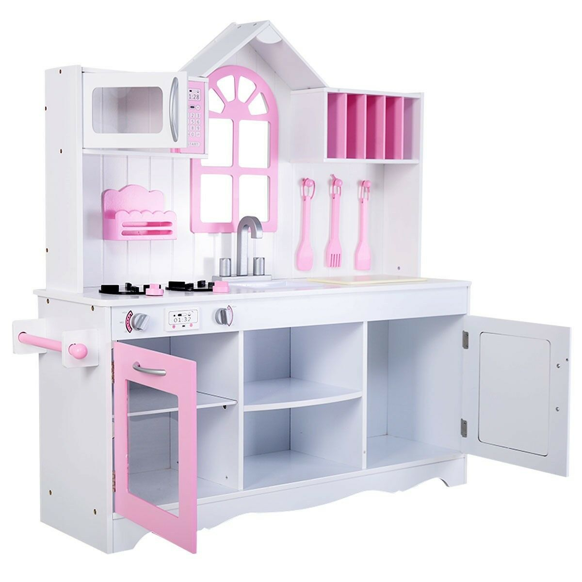 Kids Wood Wood Wood Kitchen Cooking Pretend Play Set Toy Baby Toddler Wooden Playset Gift 860b24