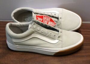 Never Worn Unisex Vans Off The Wall Canvas Skate Shoes Mens Sz8 Womens 9 5 Gray Ebay
