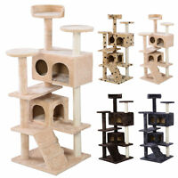 52 Cat Tree Condo Furniture Scratch Post Pet House Beige/beige Paws Eo