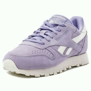 8a168c3bdec8a Image is loading REEBOK-CLASSIC-SUEDE-CORE-WOMENS-TRAINERS-VIOLET-UK-
