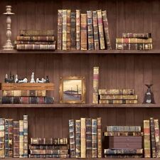 Bookcase Pattern Wallpaper White Natural Feature Wall Various Designs Free P