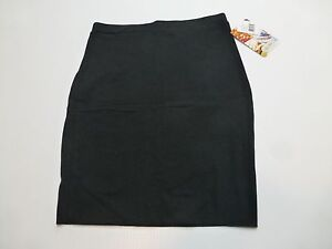Lily White Womens Size S M  Black Knit Stretch Skirt New