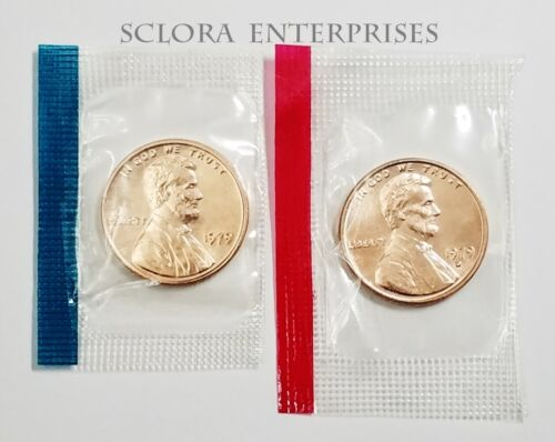 Penny Set *MINT CELLO*  **FREE SHIP** 1979 P /& D Lincoln Memorial Cent