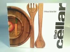 Item 5 The Cellar 7 Piece Wood Salad Bowl Server Set