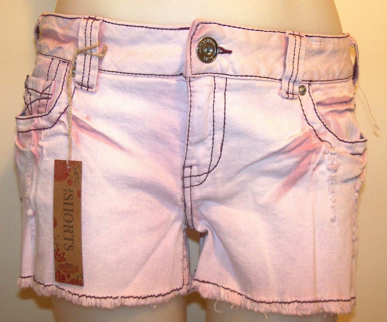 AMETHYST JEANS SZ 9 - SHORTS - BERRY - NWT - VERY CUTE