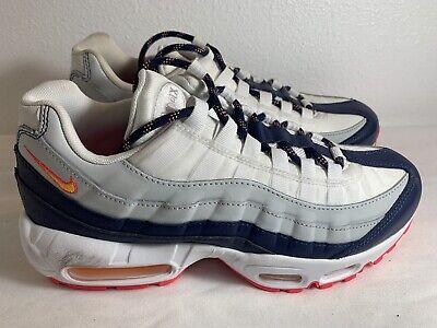 Nike Air Max 95 Women's Size 8 Navy Orange White Black 307960-405   eBay