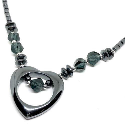 """Non-Magnetic 18/"""" Hematite Necklace with Screw Clasps necklace hematite necklace"""