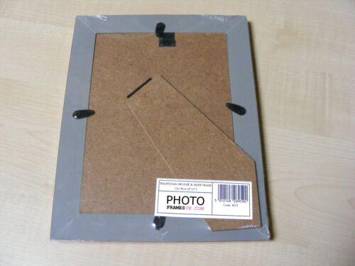 """3,5 x5 /"""" monté Cascade Bronze /& Argent 5x7 pouce 13x18 cm Cadre Photo-Nouveau"""