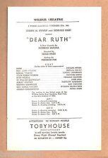 "Lenore Lonergan ""DEAR RUTH"" John Dall / Phyllis Povah 1944 Tryout Broadside"