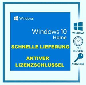 Microsoft Windows 10 Home Vollversion ✔ 32 & 64Bit ✔ Product-Key Lizenz ✔