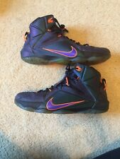 reputable site 83c57 601b4 Nike Lebron XII GS 12 Instinct Purple King James Youth Boys ...