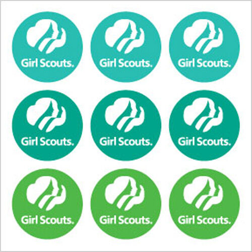 Girl Scout Tri Color Scrapbook Stickers 18042 Girl Scout Logo Card Making